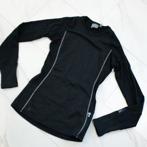 Athleta | Long Sleeve Black Thermal Athletic Top